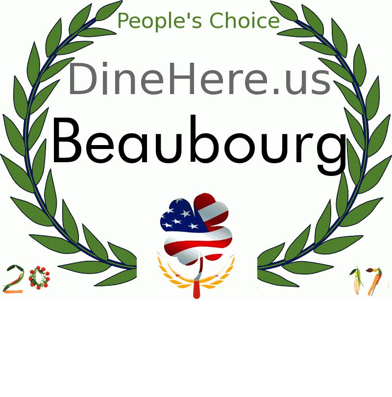 Beaubourg DineHere.us 2017 Award Winner